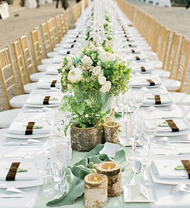 Wedding dining table